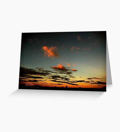 Sunset Roaming Roma © Vicki Ferrari Photography Greeting Card