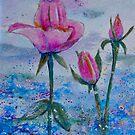 Pink Roses by FrancesArt