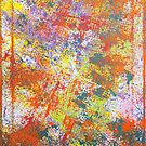 Colorful Rainbow Abstract Splatter Painting by Express Yourself Artshop