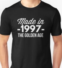 Made in 1997 the golden age Unisex T-Shirt