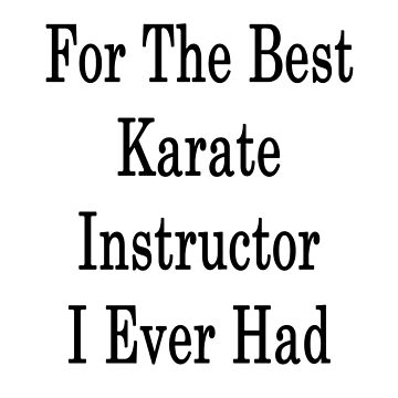 For The Best Karate Instructor I Ever Had  by supernova23