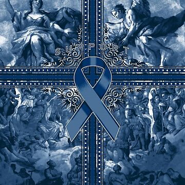 Navy Blue Awareness Ribbon Graphic Spread by adamcampen