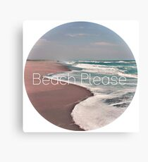 Beach Please Sticker Canvas Print