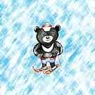 Skifahren Schwarzer Bär von AnnArtshock