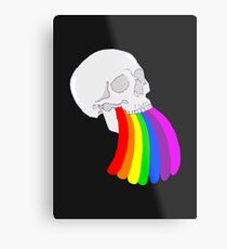 Rainbow Vomit Metal Print