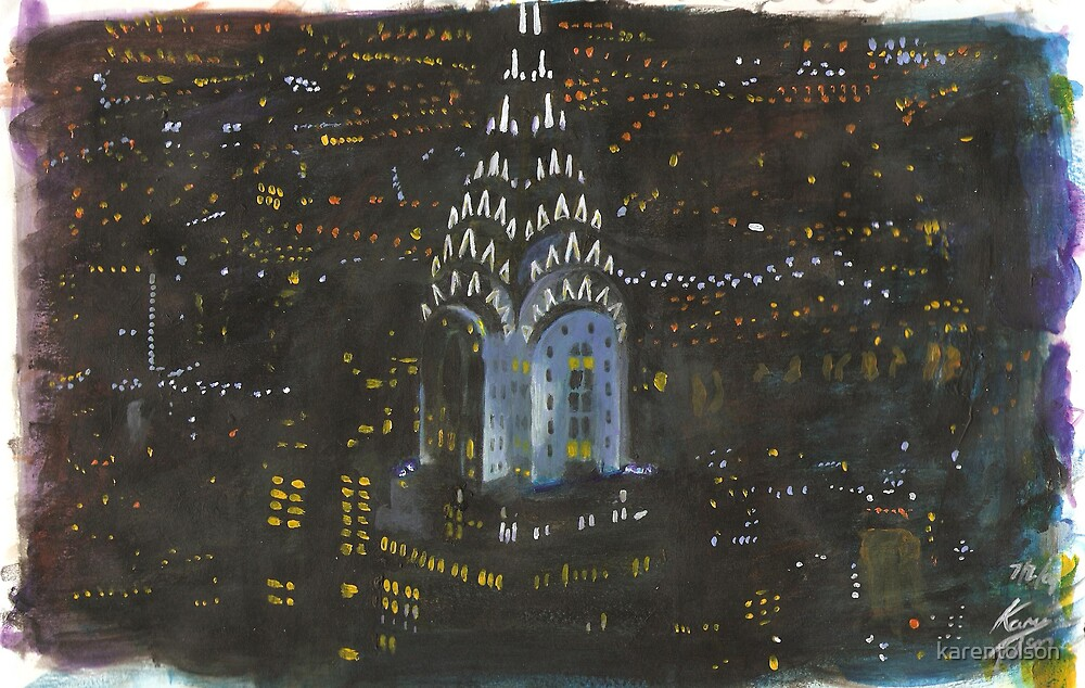 New York, Chrysler Building by karentolson
