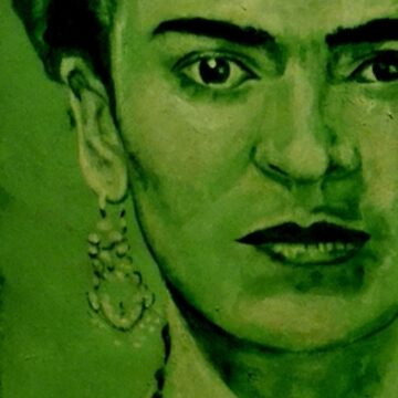Frida Kahlo - red bow by ARTito
