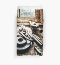 Gears and Wrenches in Machine Shop Duvet Cover