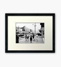 Record Rendezvous - Downtown Youngstown, Ohio, 1960s Framed Print
