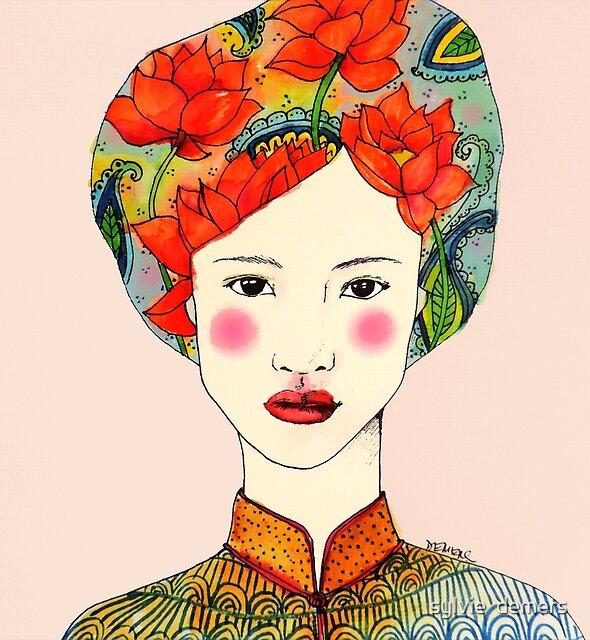 lotus girl by sylvie  demers