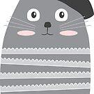 Meow Oui! Cat Sticker by LindaTieuArt