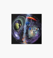 Cosmos, Science, universe, achievements, mankind, scientific research, genetics, hereditary information, DNA, galaxies Art Board