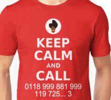 Keep Calm and Call 0118 999 881 999 119 725... Unisex T-Shirt