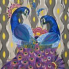 Two Peacocks  by Allise Noble