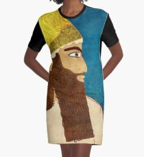 Purim, Haman Jewish, Esther, King Ahasuerus Graphic T-Shirt Dress