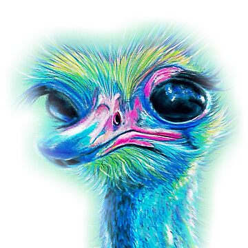 Cute Hypnotic Turquoise Emu (029) by Julieford