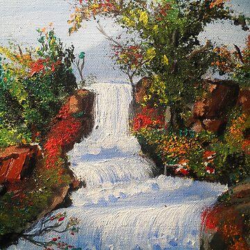 Waterfall by Nandika-Dutt