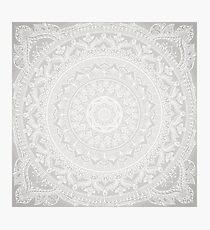 Mandala Soft Gray Photographic Print
