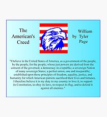The American's Creed by William Tyler Page Photographic Print