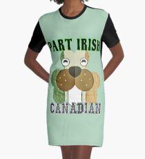 Part Irish Canadian Beaver Shamrock Graphic T-Shirt Dress