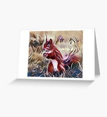 The Red Cheeked Ground Squirrel Greeting Card