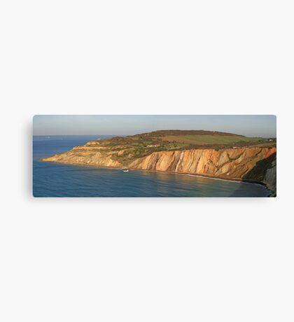 Alum Bay Panorama Canvas Print