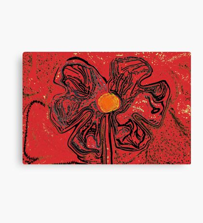 red flower power Canvas Print