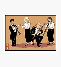 Musicians playing woodwind instruments Photographic Print