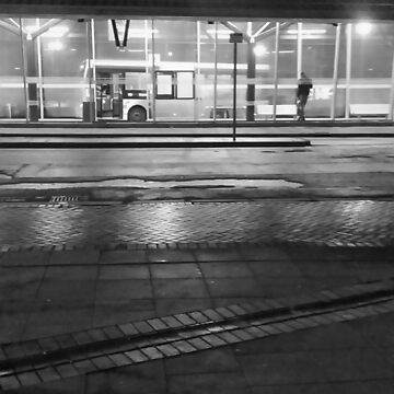The Last Bus Black and White by martinspixs