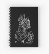 Zebra of the Night Spiral Notebook