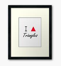 I love Triangles Framed Print