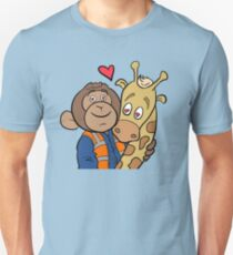Grease Monkey and his Giraffe Unisex T-Shirt