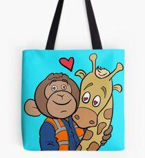 Grease Monkey and his Giraffe Tote Bag