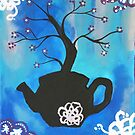 Turquoise Tea Blossom by Express Yourself Artshop
