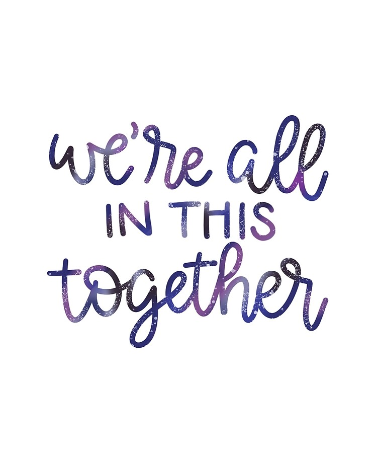 We're All in This Together High School Musical Quote Galaxy Design ...