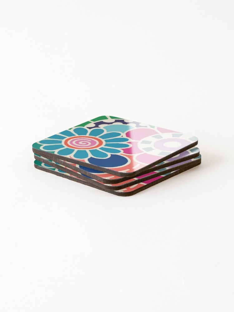 Alternate view of Five Blooms Coasters (Set of 4)