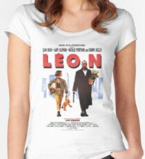 LEON the professional vintage Women's Fitted Scoop T-Shirt