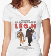 LEON the professional vintage Women's Fitted V-Neck T-Shirt