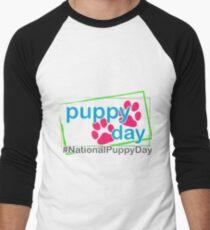 National Puppy Day Baseball ¾ Sleeve T-Shirt