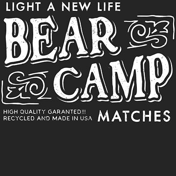 Bear Camp Retro Matches Logo by JakeRhodes