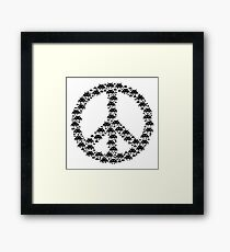 Space Invaders Peace Framed Print