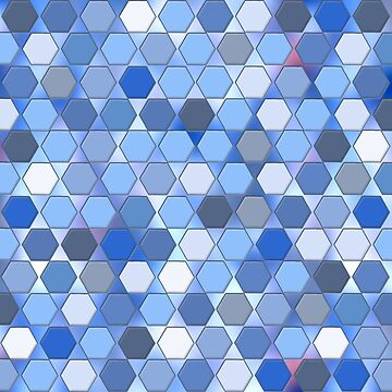 Blue Hexagons Pattern by Greenbaby
