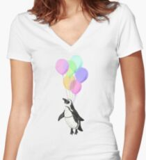 I can believe I can fly Fitted V-Neck T-Shirt