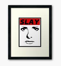 Buffy - Slay Framed Print