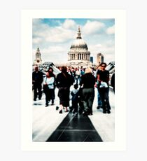 Crossing Over - St Paul's Cathedral in London Art Print