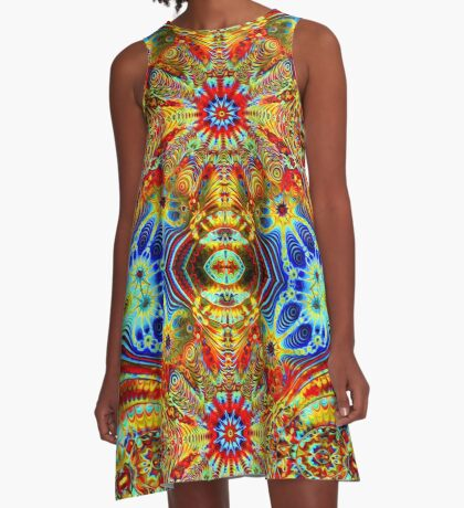 Cosmic Creatrip2 - Psychedelic trippy visuals A-Line Dress