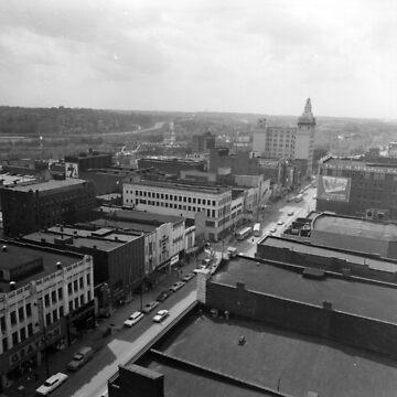 West Federal Street Scene Birdseye – Youngstown, Ohio – 1960s by MetroStore