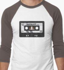 Cassette Tape - Grey Nostalgia Men's Baseball ¾ T-Shirt