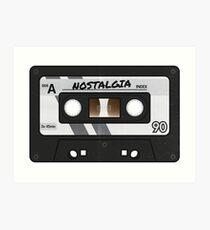 Cassette Tape - Grey Nostalgia Art Print