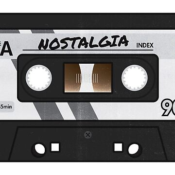 Cassette Tape - Grey Nostalgia by bl0r